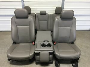 2017 2018 Ford F250 F350 F450 Super Duty Front Rear Seats Oem Gray Vinyal