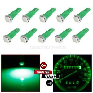 10x T5 37 73 74 2721 1 Smd Green Instrument Panel Cluster Dash Led Light Bulb