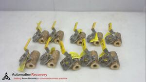 Apollo 77 101 19 Pack Of 10 1 4 Inch Ball Valve 600cwp New 261464