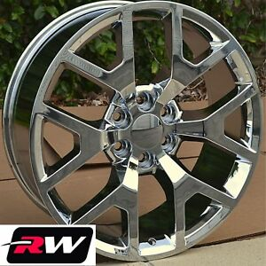 24 X10 Inch Rw 5656 Wheels For Chevy Truck Chrome Rims 6x139 7 6x5 50 31 Set