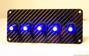 Authentic Carbon Fiber Panel W Led Toggle Switches Purple