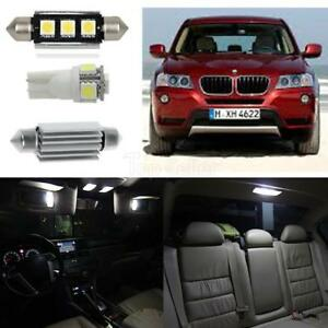 18x Error Free Led Bulbs Interior Canbus Lights White For Bmw X3 F25 2000 2015