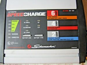 Schumacher Sc 600a Speed Charge 6 12 Volt 2 4 6 Amp Battery Charger