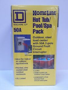 Spa Panel Hot Tub Pool 50 Amp 2 space 4 circuit Main Lug Load Center Protection