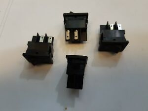 Lot X 100 Rocker Switches Dpdt On on 10a 250v