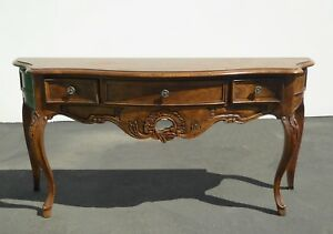 Vintage French Country Oak Console Sofa Table By Century Furniture