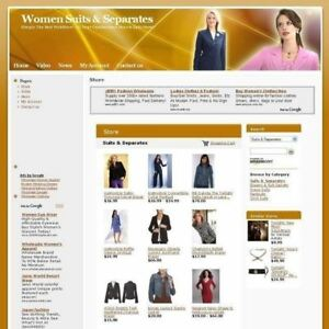 Women Suits Separates Online Store Business Website For Sale Free Domain Name
