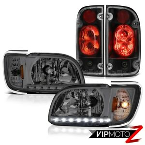 01 02 03 04 Toyota Tacoma Prerunner Black Taillights Headlamps Bumper Assembly