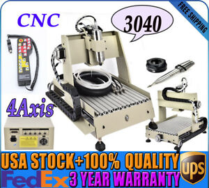 4axis Cnc3040 Router Drill Cutting Engraving Machine Metalworking