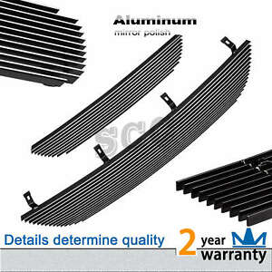 2pcs Logo Cover Billet Grille Grill Insert Combo Fits 2002 2005 Ford Explorer