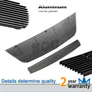 2pcs Silver Billet Grille Grill Combo Insert Fit 2003 2006 Ford Expedition