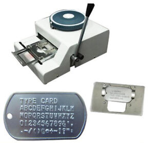 Ce 52d Manual Steel Dog Tag Embosser Id Card Military Embossing Stamping Machine