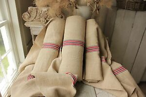 Grain Sack Fabric 28 Yds Grainsack Organic Hemp Upholstery Washed Vintage Linen