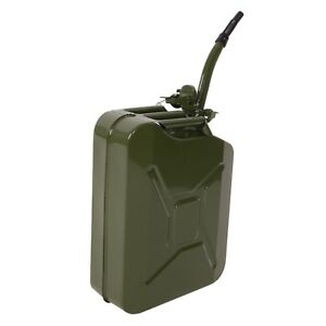 5 Gallon Gas Petrol Jerry Can Spout Gasoline Backup Fuel Caddy Tank Container