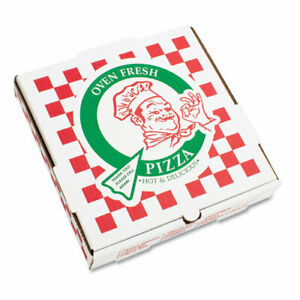 Takeout Containers 18in Pizza White 18w X 18d X 2h 50 bundle