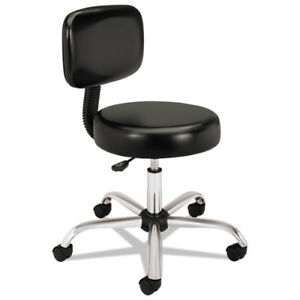 Medical Exam Stool With Back 24 1 4 X 27 1 4 X 36 Black