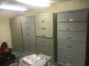 Five Drawer Lateral Filing Cabinets lot Of 4