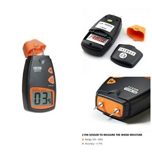 Digital Wood Moisture Meter Lcd Display Moisture Detector Test Meters 9v Battery