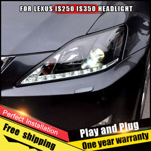 For Lexus Is250 Headlights Assembly Bi Xenon Lens Double Beam Hid Kit 2006 2013