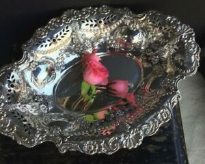 Antique English Sterling Silver Tray Dish Bowl