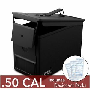 50Cal Metal Ammo Can - Military M2A1 Steel Waterproof  Box for Long Term Storage