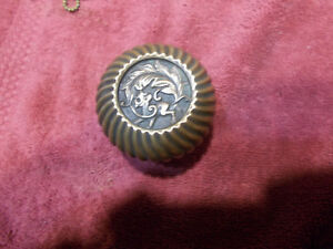 Corbin Empire Beastie Dragon Brass Entry Door Knob