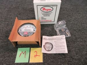 Dwyer Pressure Gage 2000 0 Magnehelic Kd7 10 Dial Indicator 15 Psig Max Water