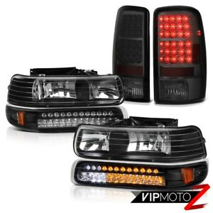 2000 2006 Chevy Suburban Bumper Drl Parking Headlamps Smoke Brake Led Tail Light