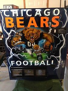 Chicago Bears Nfl Football Vending Machine Coke Pepsi Beer Cooler Jersey Tickets