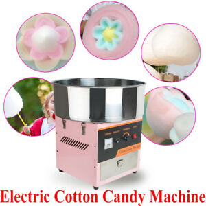 Us Electric Cotton Candy Machine Floss Maker Commercial Carnival Party Kid Snack