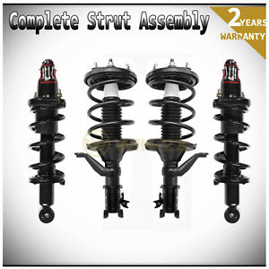 Set Of 4 Front Rear Left Right Shock Struts Coil Springs Assembly Fit Civic