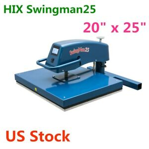 Us 20 X 25 Hix Swingman25 Digital Manual Swing away Heat Press Machine