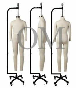 Full Body 10 Year Old Child Professional Dress Form Mannequin W arms 10t Delu