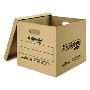 Moving Box Kit W lift off Lid Small med 12 ct Kraft Fel7716401