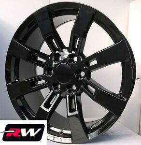24 X10 Inch Rw 5409 Wheels For Chevy Truck Gloss Black Rims 6x139 7 31 Set
