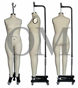 Female Full Body Professional Fashion Dressmaker Dress Form With Collapsible