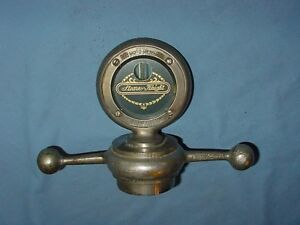 Stearns Knight Vintage Motometer Radiator Cap Hood Ornament Mascot Temp Gauge