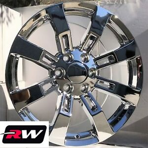 24 Inch 24 X10 Rw 5409 Wheels For Chevy Truck Chrome Rims 6x139 7 6x5 50 31