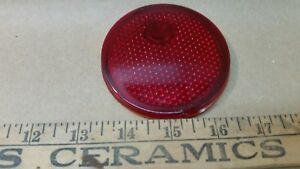 Antique Glass Red Glass Brake Tail Light Lens 3 Nches