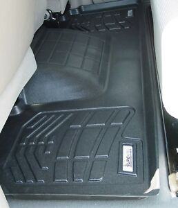 Second Row Black Floor Mat For 2006 2008 Dodge Ram 1500 Mega Cab