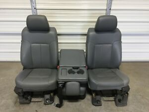 1999 2016 Ford F250 F350 F450 Super Duty Front Seats Gray Vinyal