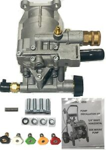 Horizontal Pressure Washer Pump Kit 3 4 Pk18219 quick Disconnect Thermal Valve