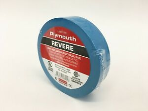 Plymouth Rubber 3901 Revere Blue 7 Mil Vinyl Electrical Tape 3 4 X 60 Spain