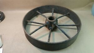 Antique Hit Miss Gas Engine Iron Cart Wheel Set 16 X 3 Heavy Duty