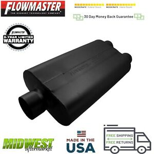 9430502 Flowmaster 50 Delta Flow Muffler 3 0 Center Inlet 2 5 Dual Outlet