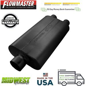 9430522 Flowmaster 50 Delta Flow Muffler 3 0 Center Inlet 2 5 Dual Outlet