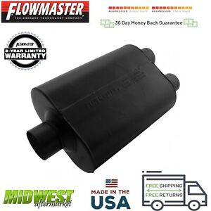 9530452 Flowmaster Super 44 Muffler 3 0 Center Inlet 2 5 Dual Outlet
