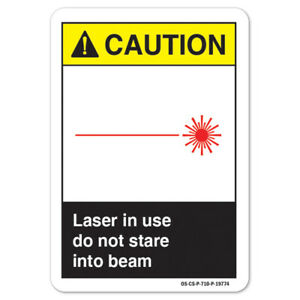 Ansi Caution Sign Laser In Use Do Not Stare Into Beam made In The Usa