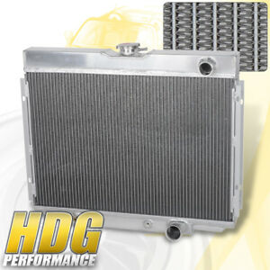 3 Row Tri Core Aluminum Racing Cooling Radiator For 1967 1970 Ford Mustang V8 Mt