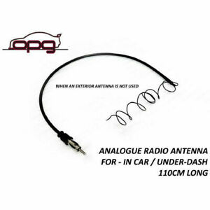 Analogue Radio Am Fm Hidden Antenna Lead In Car Cabin For Vintage Car 110cm